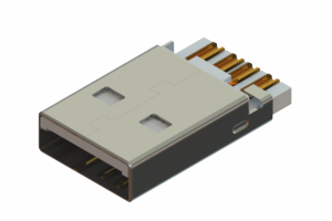 691C104-190-120 - USB Type-A cable end connector