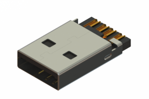 691C104-590-121 - USB Type-A cable end connector