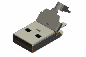 691E104P5A0-261 - USB Type-A( 5A rated) cable end connector