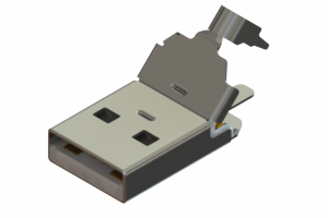 691E104P5A0-267 - USB Type-A( 5A rated) cable end connector