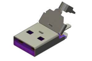 691E104P5A0-268 - USB Type-A( 5A rated) cable end connector