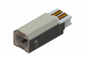 691F204-190-120 - USB Type-B cable end connector