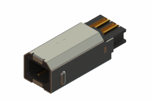 691F204-190-121 - USB Type-B cable end connector