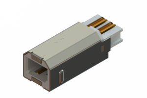 691F204-690-120 - USB Type-B cable end connector
