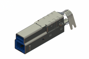 691F209-190-712 - USB Type-B cable end connector